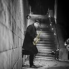 The Golden Saxophone Player by Stwayne