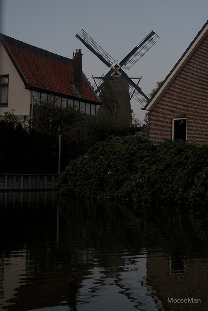 Windmills- 5 of 5: Evening urban mill by MooseMan