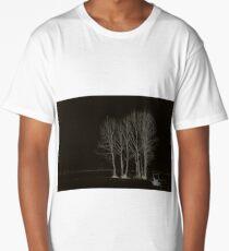 Black Landscape Long T-Shirt