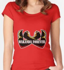 Wakanda Forever (Red) Women's Fitted Scoop T-Shirt