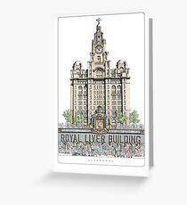 Royal Liver Building, Liverpool Greeting Card