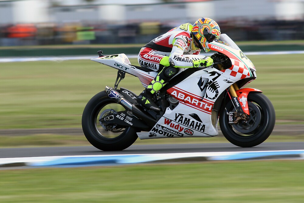 Valentino Rossi, Phillip Island Motogp 2007 by Anthony Edwards