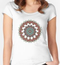 Mandala Christmas Pug Women's Fitted Scoop T-Shirt