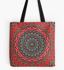 Mandala Christmas Pug Tote Bag