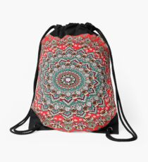 Mandala Christmas Pug Drawstring Bag