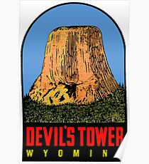 Devils Tower USA Poster