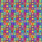 Modern Retro Squares by Susan Sowers
