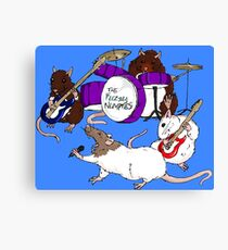 Fuzzy Numpties Rat Band Canvas Print