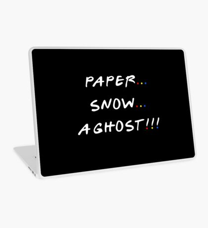 Paper... Snow... A ghost!!! Laptop Skin