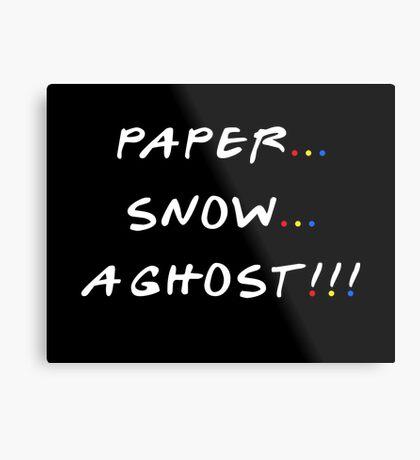 Paper... Snow... A ghost!!! Metal Print
