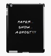 Paper... Snow... A ghost!!! iPad Case/Skin