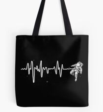 Space Heartbeat Tote Bag