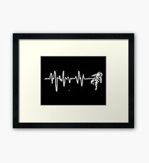 Space Heartbeat Framed Print