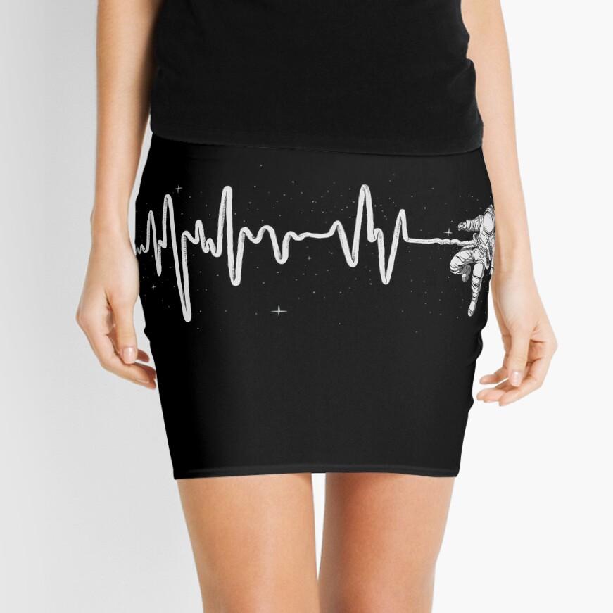 Latido del corazón del espacio Minifalda