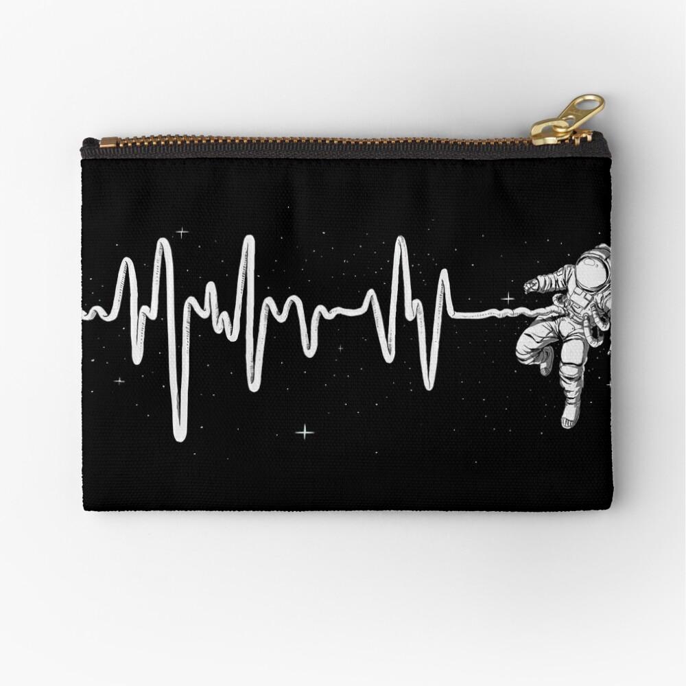 Latido del corazón del espacio Bolsos de mano