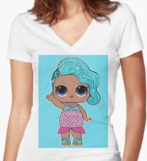 LOL Surprise - Splash Queen Women's Fitted V-Neck T-Shirt