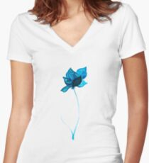 lonely flower Women's Fitted V-Neck T-Shirt