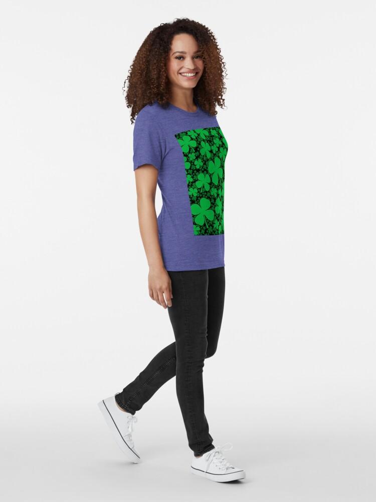 Alternative Ansicht von Ein Shamrock-Feld für St Patrick Tag Vintage T-Shirt