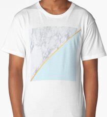 Marble/Gold/Blue Long T-Shirt