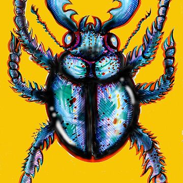 Carabidae: Pincers Poised, Eyes Gleaming (TRANSPARENT VERSION) by LeftHandedLenya