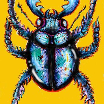 Carabidae: Pincers Poised, Eyes Gleaming (TRANSPARENT VERSION) by LeftHandedLenya