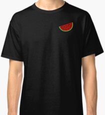 Tropical mosaic watermelon design on black background Classic T-Shirt