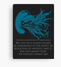 Call of Cthulu - HP Lovecraft Canvas Print