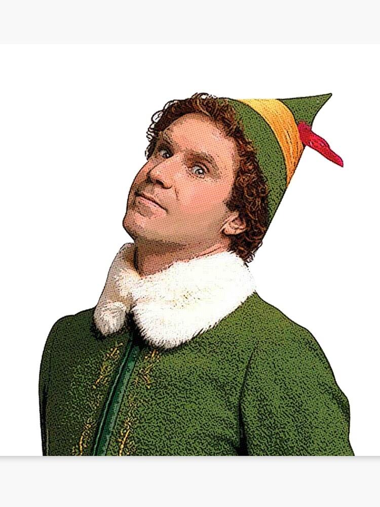 Will Ferrell Christmas Movie.Buddy The Elf Side Eye Funny Christmas Movie Will Ferrell Canvas Print