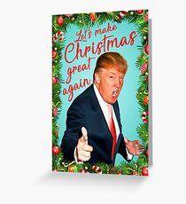 Trump Weihnachtskarte Grußkarte