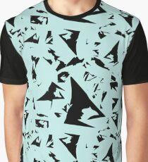 Fragmentation - Black on Robin's Egg Blue Graphic T-Shirt