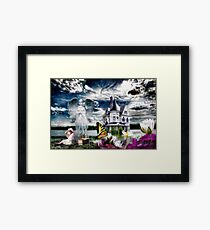 Angels Get a Better View Framed Print