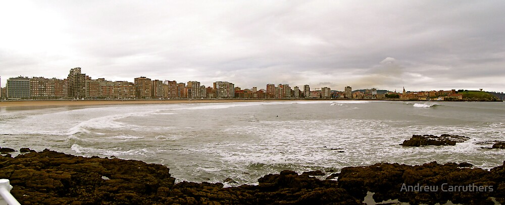 Gijon Spain by Andrew Carruthers