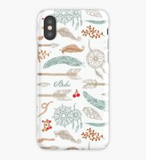 Hand-drawn pattern in boho style iPhone Case/Skin