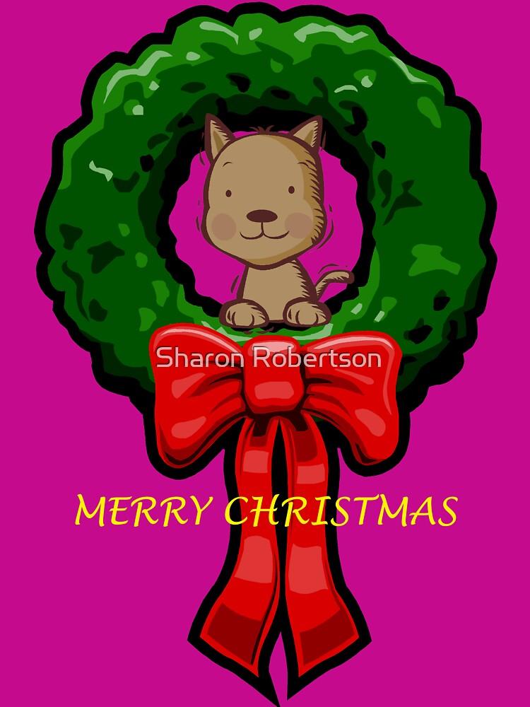 MERRY CHRISTMAS DOG by Sharon Robertson