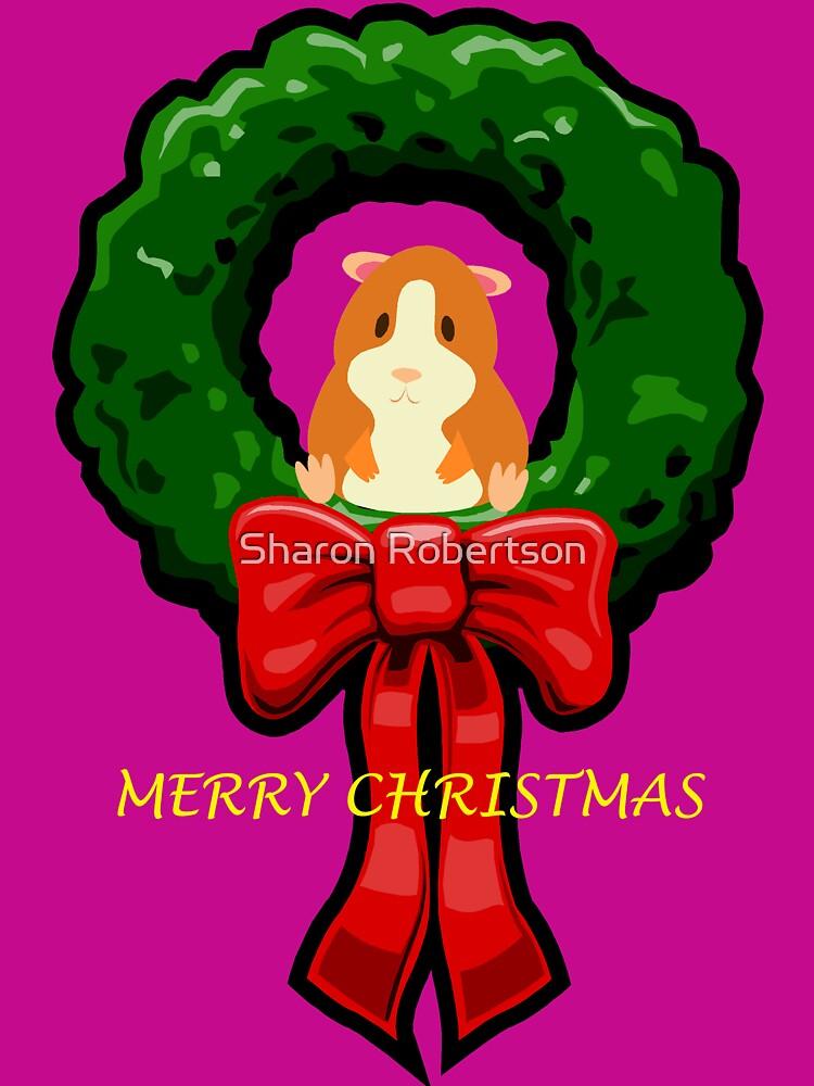 MERRY CHRISTMAS GUINEA PIG / HAMSTER by Sharon Robertson