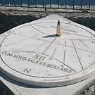 Sun Clock at the top of the mountain in Capri Italy by Ilan Cohen