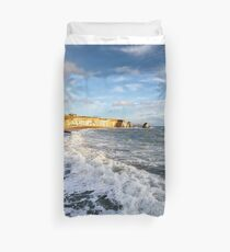 Freshwater Bay Beach Isle Of Wight Duvet Cover