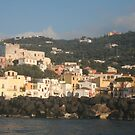 Massa Lubrense Italy from the sea on the way back from Capri by Ilan Cohen