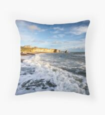 Freshwater Bay Beach Isle Of Wight Throw Pillow