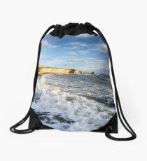 Freshwater Bay Beach Isle Of Wight Drawstring Bag