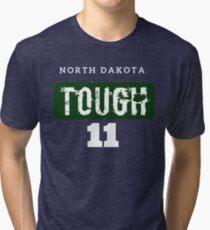 North Dakota Tough - 11 Football  Tri-blend T-Shirt