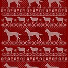 Ugly Christmas sweater dog edition - Australian kelpie by Camilla Mikaela Häggblom