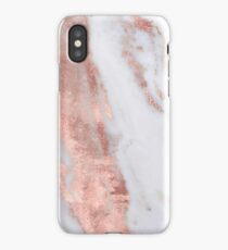 Blush Rose Gold Marble by Nature Magick iPhone Case/Skin