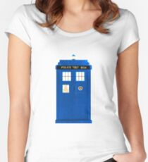 TARDIS Plain & Simple Women's Fitted Scoop T-Shirt