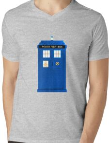 TARDIS Plain & Simple Mens V-Neck T-Shirt
