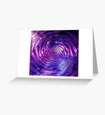 Nebula maze Greeting Card