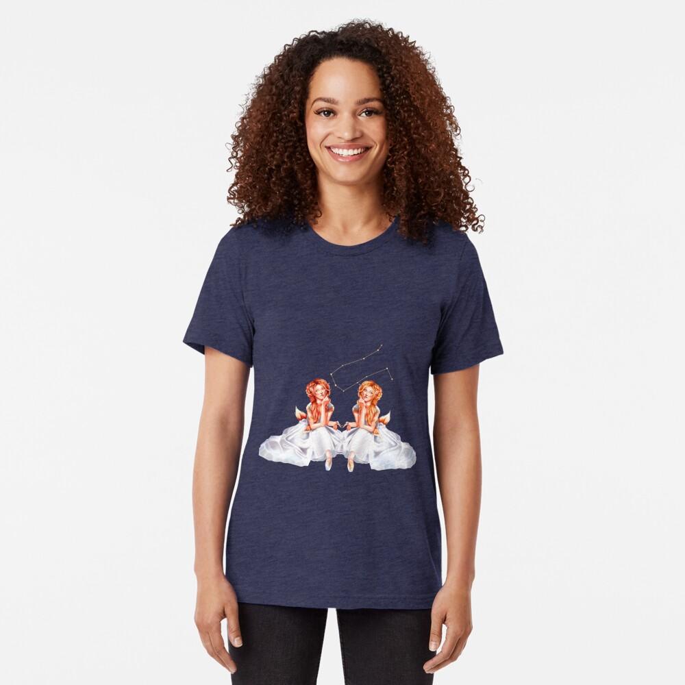Gemini OC - 12 Zodiac Ladies Tri-blend T-Shirt