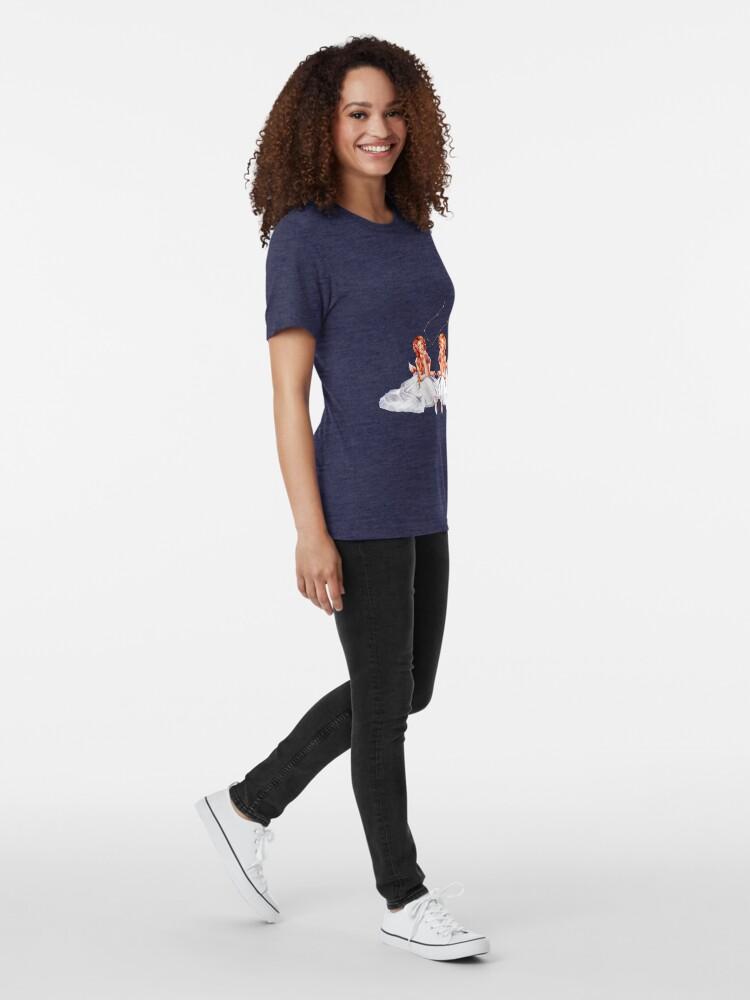 Alternate view of Gemini OC - 12 Zodiac Ladies Tri-blend T-Shirt