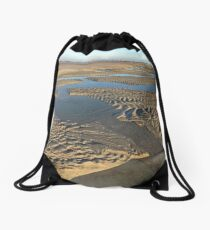 Beach Inlet Low Tide Pools Photography Drawstring Bag