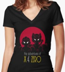 The Adventures of X & Zero Women's Fitted V-Neck T-Shirt